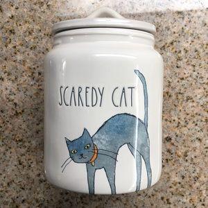 Rae Dunn Halloween SCAREDY CAT canister NEW